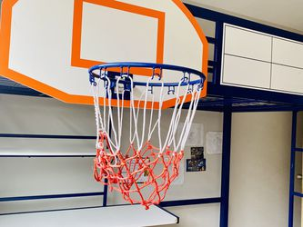 Twin Lofted Bed W/desk and basketball Hoop for Sale in Roy,  WA