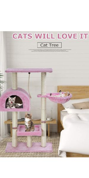 Brand new in box 4 ft tall cat tree pink for Sale in Tampa, FL