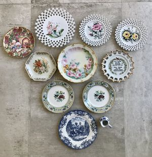 Selling all my antique and vintage plates. Buy them all for $95. for Sale in Newport Beach, CA