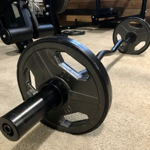 Brand new in box Olympic EZ Easy Bicep curl bar barbell 35 lb weight set (not negotiable) for Sale in San Diego, CA