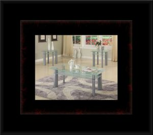 3pc glass white coffee table for Sale in Crofton, MD