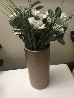 faux flower and vase for Sale in Rolling Meadows, IL