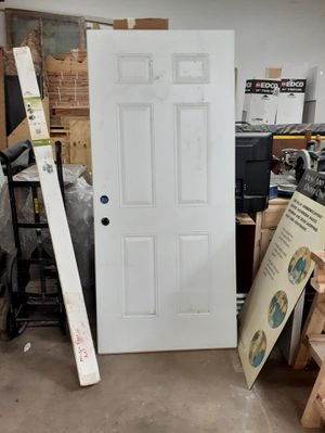 6 Panel White Door 79x36 for Sale in Northbrook, IL