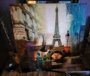 New Eiffel Tower City Canvas Wall Art Print for Sale in Orlando, FL