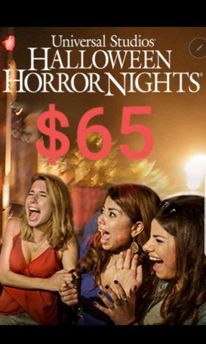 Horror night. Universal. Only for group of people. More then 10. for Sale in Los Angeles, CA