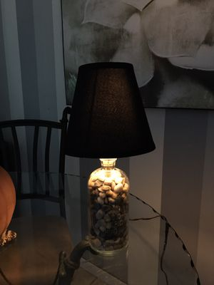 Antique HNO3 (CON-NITRIC ACID) Glass Bottle Lamp for Sale in Salem, OR