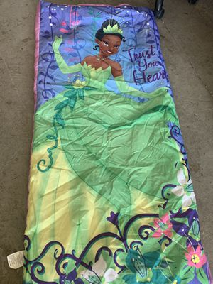 Disney Princess Tiana Sleeping bag for Sale in Fontana, CA