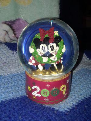 Disney 2009 Mickey & Minnie Christmas Snow Globe for Sale in Houston, TX