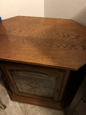 Corner TV Cabinet for Sale in Fresno, CA