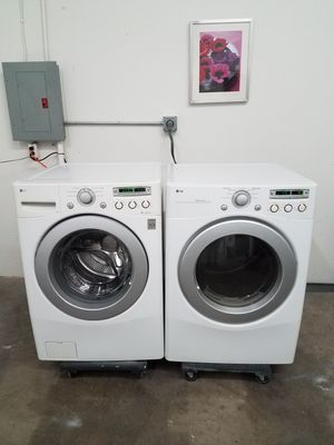 LG Washer And LG Electric Dryer Set, Great Working👍, Free Delivery Only For First Floor🚀🚚👷‍♂️Free installation👨‍🔧 for Sale in Richardson, TX