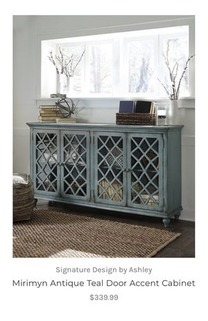 Antique Teal Door Accent Cabinet for Sale in Dallas, TX