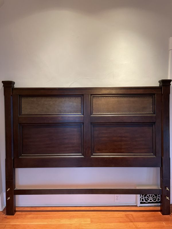 King Size Mocha Bedroom Set + Matching Night Stands - Solid Wood- Very Heavy