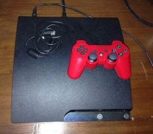 MUST GO ASAP all working Ps3 slim Jailbroken PlayStation headset and Sony sixaxis wireless controller with tv for Sale in McKeesport, PA