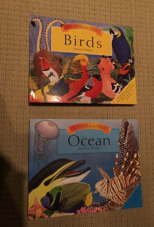 Pop-up books with sounds, birds and ocean animals for Sale in Houston, TX