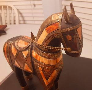 Antique wooden carved horse for Sale in Arlington, TX