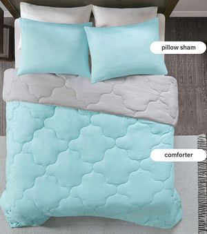Comfort Spaces Comforter Set With Comforter grey sheets and two shams! Twin XL for Sale in Jena, LA