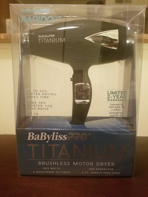 Babyliss Pro Titanium Hair Dryer for Sale in San Ramon, CA