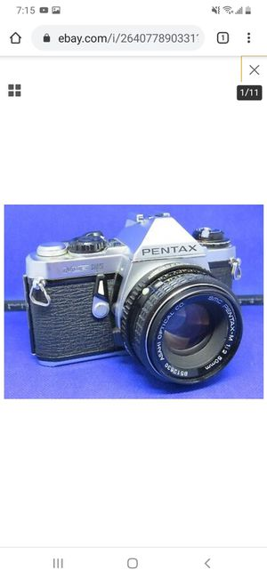 Pentax Me Super 35mm Slr Film Camera With 50 Mm Lens And Extras Lot Of for Sale in Honolulu, HI
