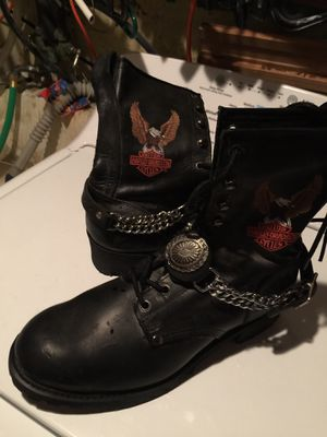 """USED """"HARLEY DAVIDSON MOTORCYCLE BOOTS"""" for Sale in Philadelphia, PA"""