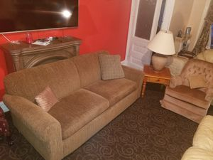 La-z-boy set couch and swivel chair, end table and lamp for Sale in Reading, PA