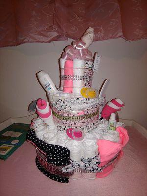 Baby girl diaper cake for Sale in Kearns, UT