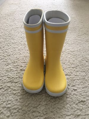 Girl/Boy/Todler rain boots yellov Size 10 Aigle BABY FLAC Children's for Sale in Arlington, VA