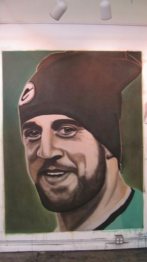 6x8' aaron rodgers original art for Sale in Coral Springs, FL