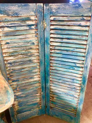 Chippy blue wood shutters for Sale in Morro Bay, CA
