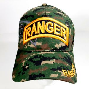 US Army Ranger Men's Camouflage Ball Cap One Size 100% Cotton Embroidered H1 for Sale in Independence, KS