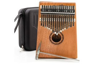 JDR kalimba 17 Keys Thumb Piano,Portable Mbira Finger Piano Gifts with EVA Waterproof Hard Protective Case,Tuning Hammer and Study Instruction for Sale in Rancho Cucamonga, CA