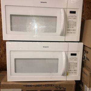 2 Like New Over The Range Microwaves Hotpoint By GE. $75 Each.4 Month Warranty for Sale in Newport News, VA