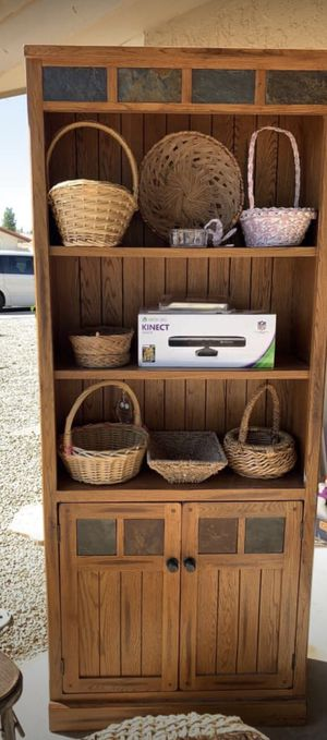 Hutch style cabinet and shelves - Solid Wood and great condition for Sale in Scottsdale, AZ