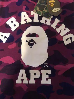 Purple Camo BAPE Shirt for Sale in Grosse Pointe Park, MI