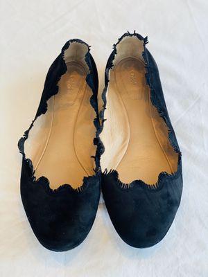 CHLOE 38 - Chloe Lauren Scallop Fringe Suede Ballet Flats for Sale in Danbury, CT