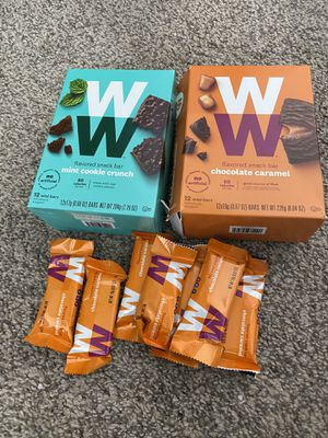 WW flavored snack bars(19) mint and caramel expire12/20 for Sale in Chandler, AZ