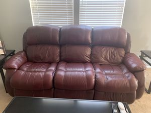 Recliner/ Leather couch for Sale in Perris, CA