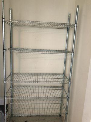 Ikea 6 metal shelves unit for Sale in Rockville, MD