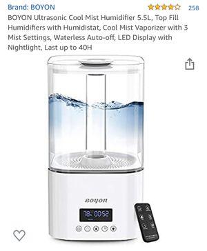 Ultrasonic Cool Mist Humidifier 5.5L w LED Display & Night Light for Sale in Corona, CA