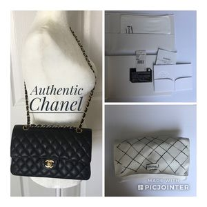 Chanel Classic Double Flap Medium Black Caviar for Sale in Arlington, VA