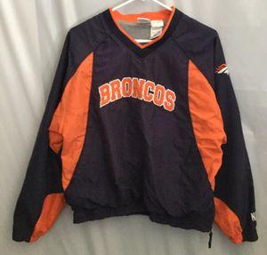 Vintage Denver Broncos Pullover Light Jacket Boys Large 16-18 for Sale in Albuquerque, NM