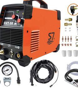 Plasma Cutter, 50A Inverter 110/230V Dual Voltage Cutting Machine With Intelleget Digital Display With Free Accessories Easy Cutter Welder for Sale in Anaheim,  CA