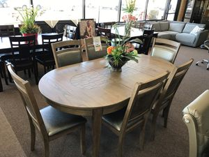 7-pcs dining table on sale only at elegant Furniture 🛋🎈 for Sale in Fresno, CA