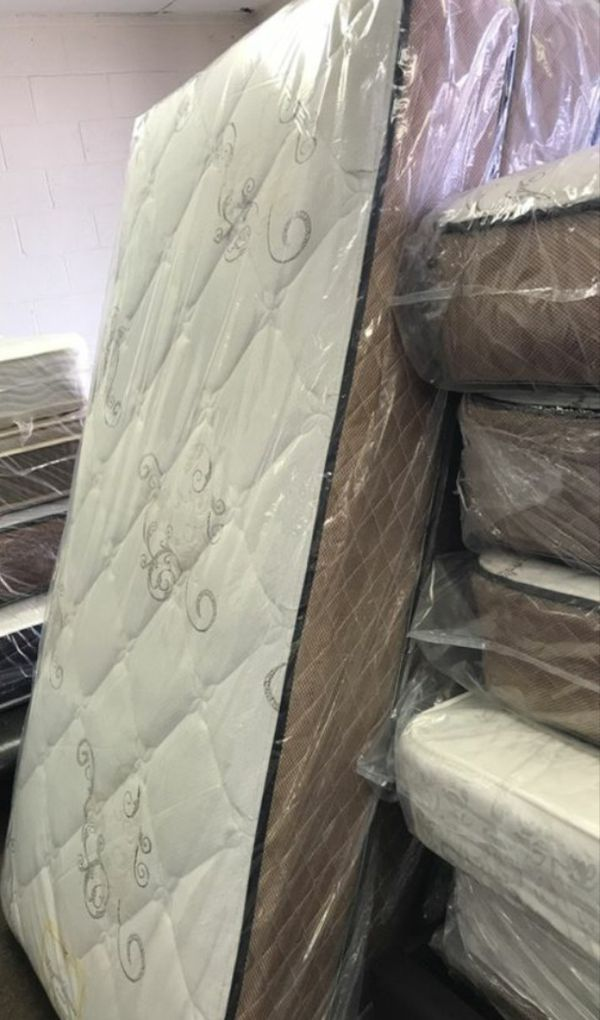 New thick queen orthopedic mattress free delivery free clearance boxsprings
