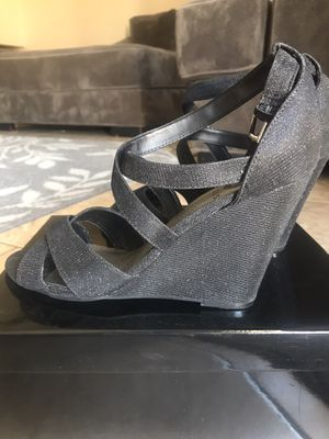 Guess wedge heels size 9.5 black shimmer for Sale in AZ, US