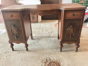 Antique Esque Vanity, Mirror and Chair for Sale in Greensburg, PA