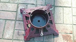 """Cast Iron Christmas Tree Stand- Heavy duty, 6"""" diameter tree for Sale in Portland, OR"""