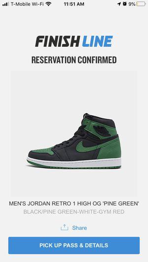 Jordan Retro 1 Pine Green for Sale in Carson, CA