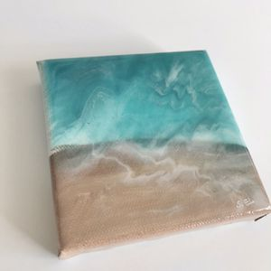 ocean view resin art / beach waves art wedding favors for Sale in Las Vegas, NV