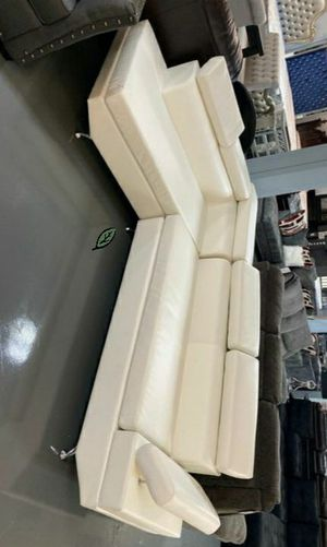 ☑ Special for Black Friday ‼ Antares White Modern Sectional | U7101 11 for Sale in Columbia, MD