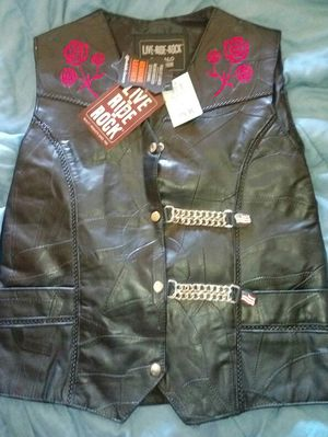 Motorcycle Leather vest, woman's XL for Sale in Fresno, CA